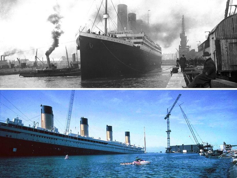 Титаник тогда и съемки фильма Титаник