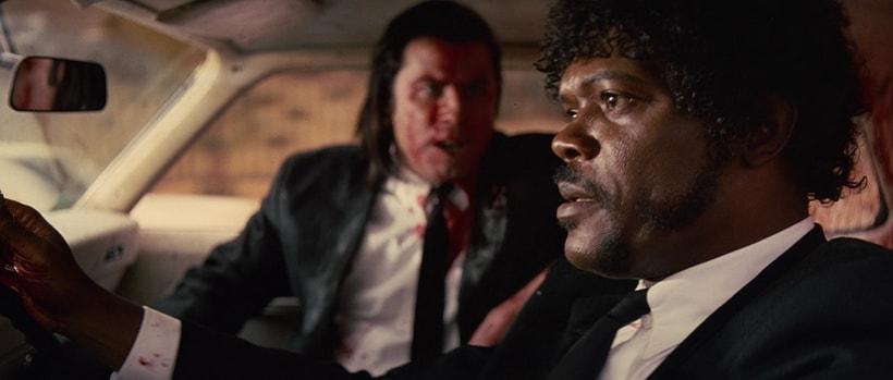 Винс убивает Марвина в автомобиле