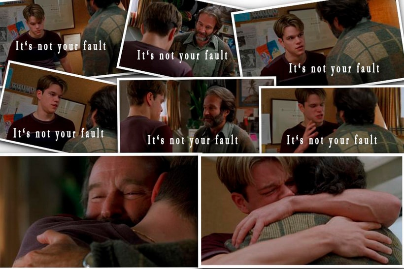 It's not your fault: Good will hunting character