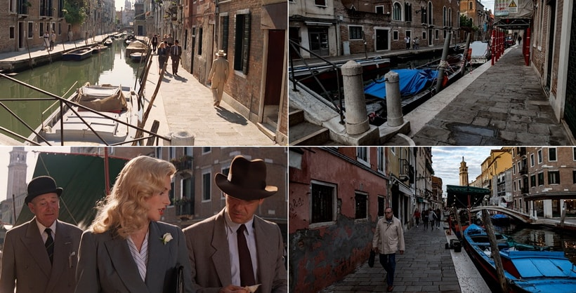 INDY, MARCUS AND ELSA WALKING ALONG VENICE. Indiana Jones last crusade locations