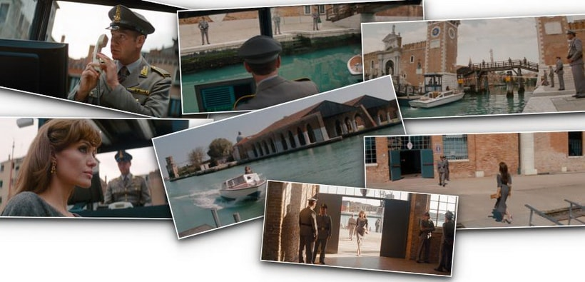 INTERPOL HQ – ARSENALE. The tourist 2010 movie and Venice
