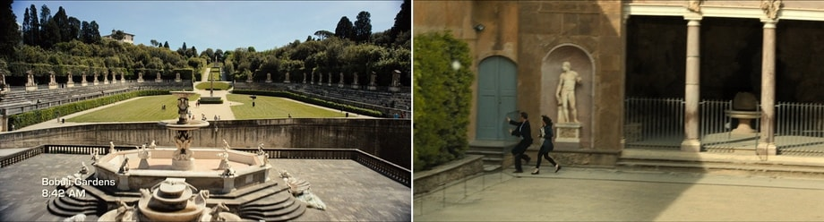 Inferno locations FLorence. Boboli Gardens