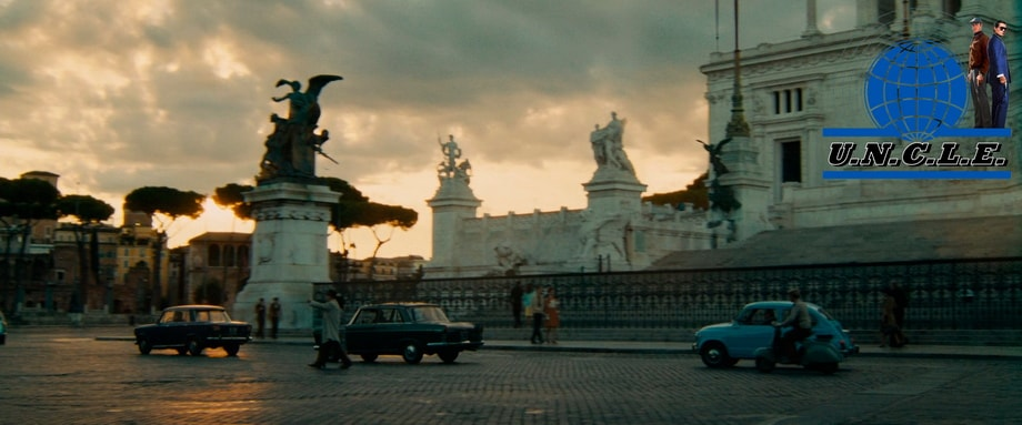 ARRIVING AT ROME: PIAZZA VENEZIA. the man from uncle locations