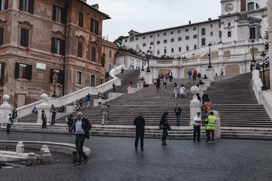 THE SPANISH STEPS in Rome movie locations
