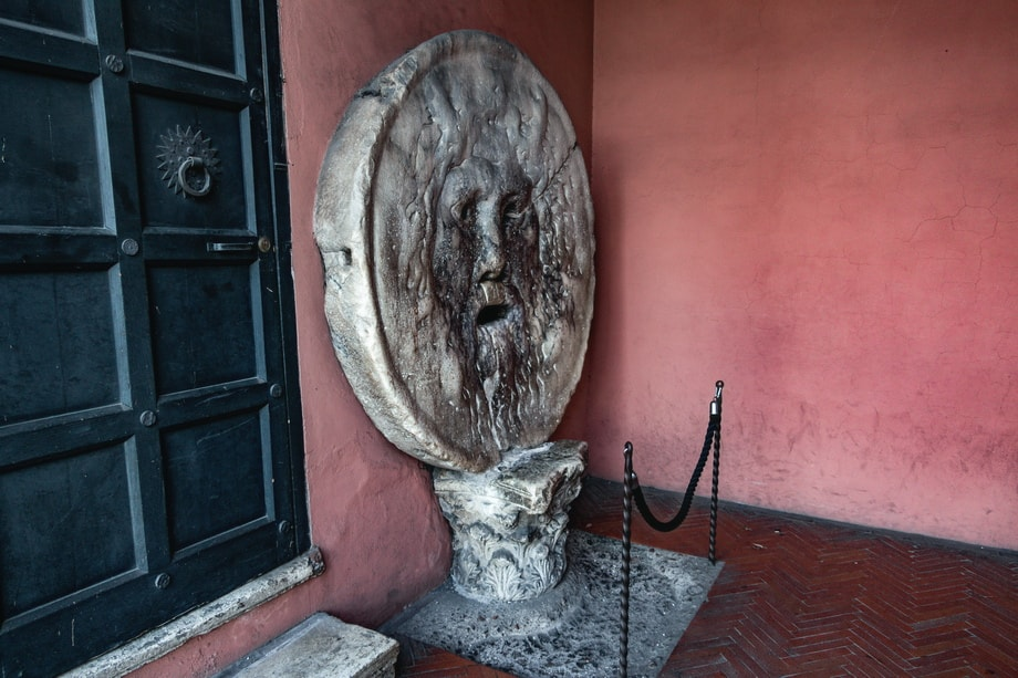 Bocca Della Verita Rome. The mouth of truth