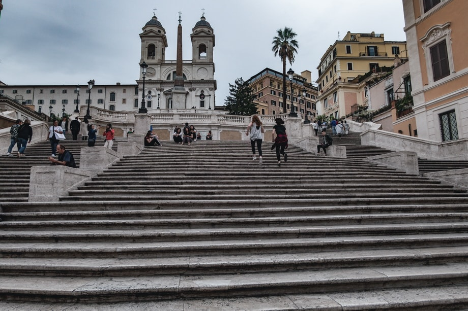 THE SPANISH STEPS in Rome filming locations
