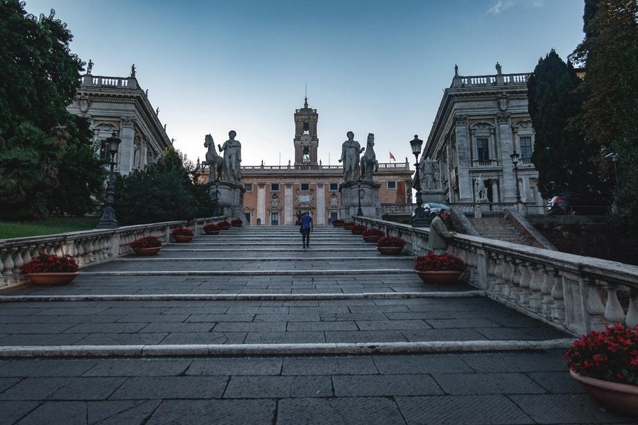 Cordonata Capitolina steps in Rome