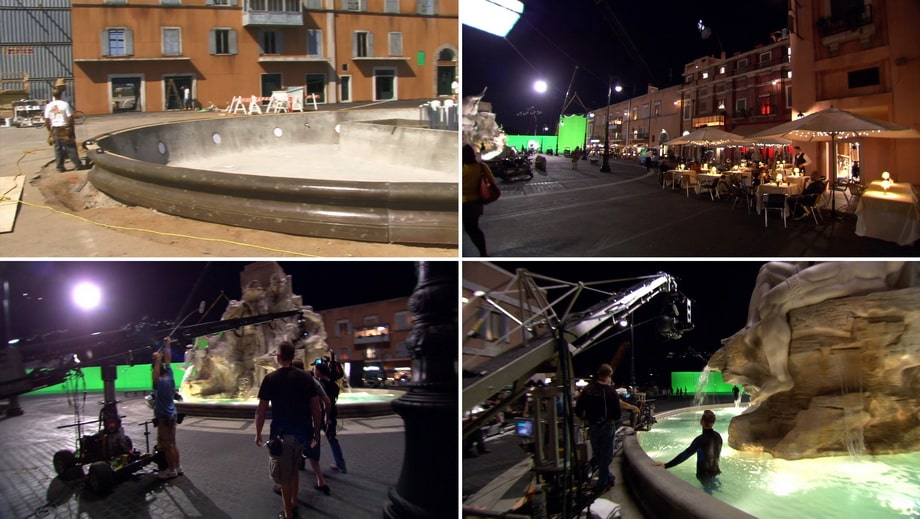The movie set of Piazza Navona