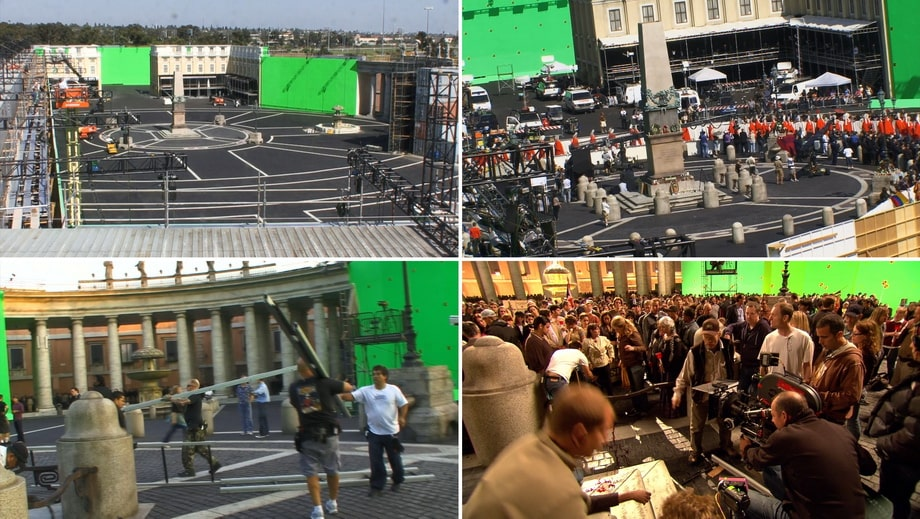 SAINT PETER'S SQUARE as a movie set