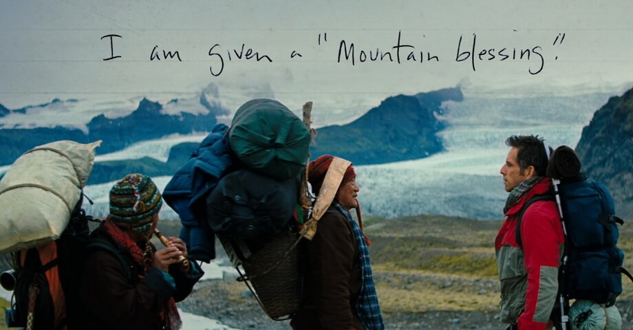 Walter Mitty: I am given a mountain blessing