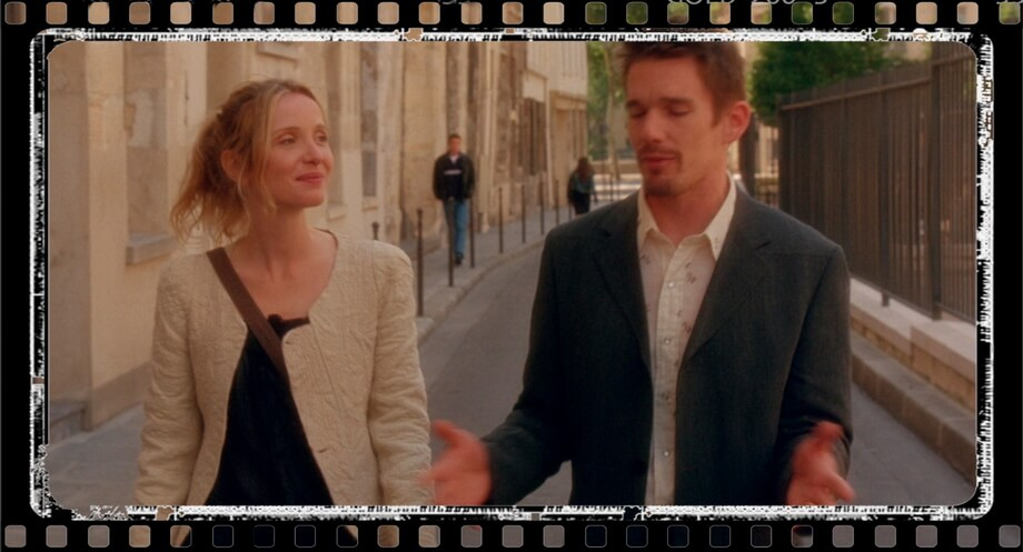 RUE DES JARDINS ST PAUL Ethan Hawk and Julie Delpy