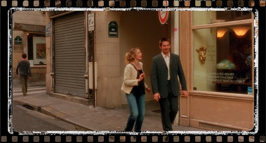 Ethan Hawk and Julie Delpy: Rue Eginhard Paris