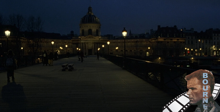 'Pont des Arts' bridge Jason Bourne