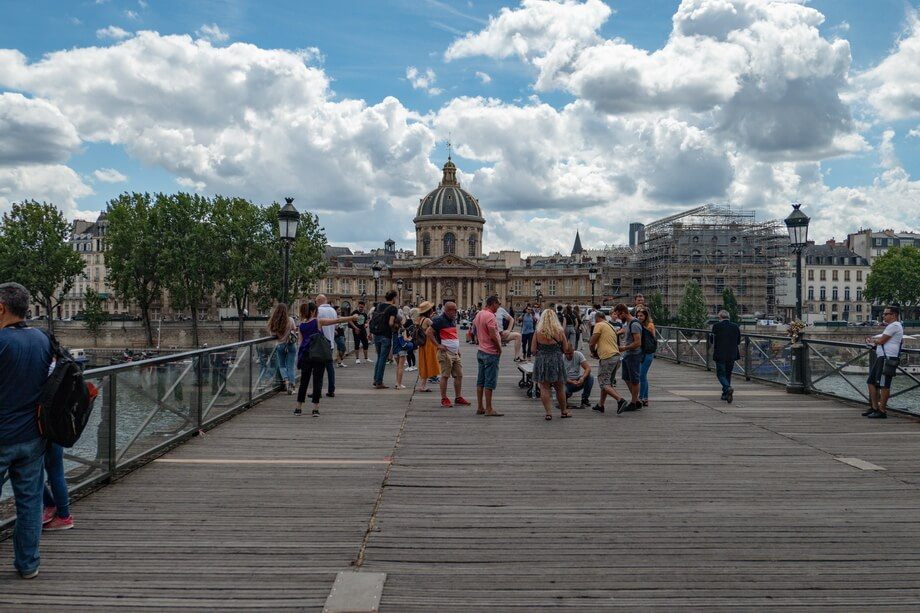 'Pont des Arts' bridge paris, France