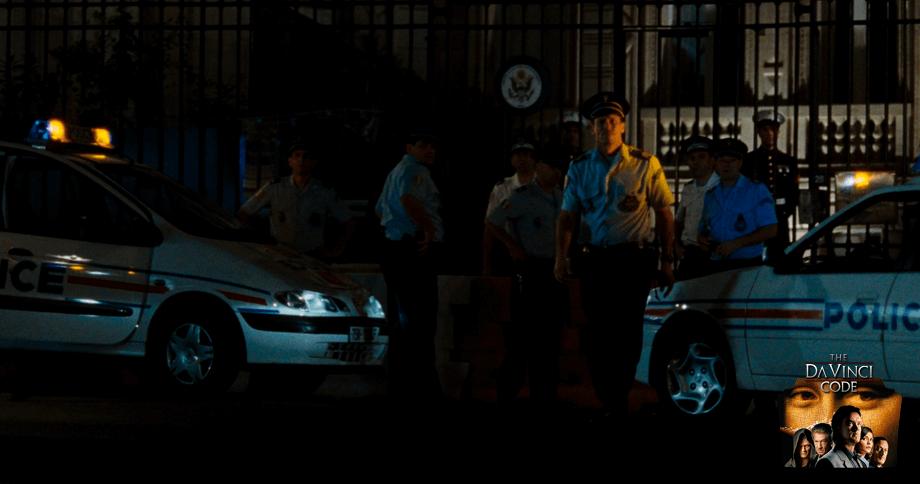 THE AMERICAN EMBASSY in the Da vinci Code movie