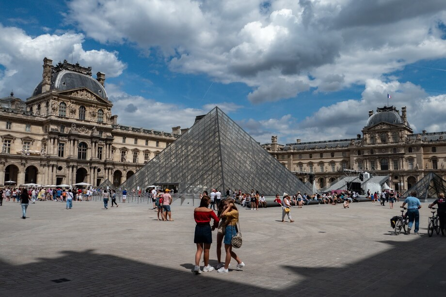 THE LOUVRE museum, France