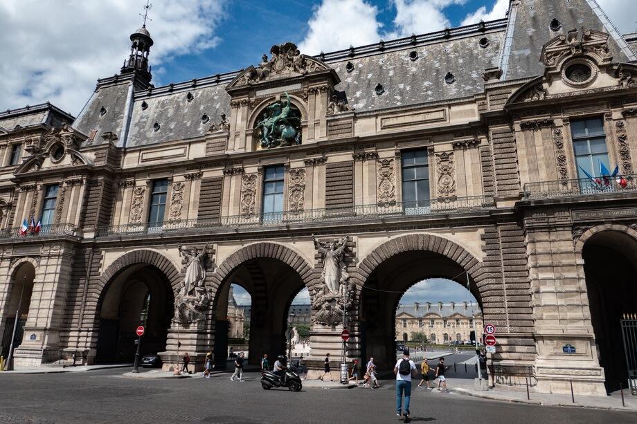 'Pavillon de la trémoille' paris, Louvre museum