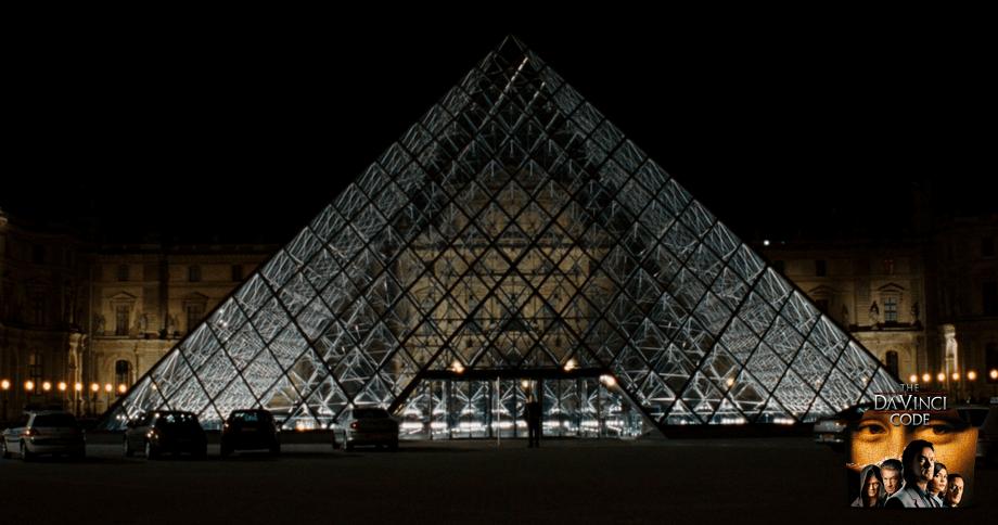 Robert Langdon and the Louvre Piramide
