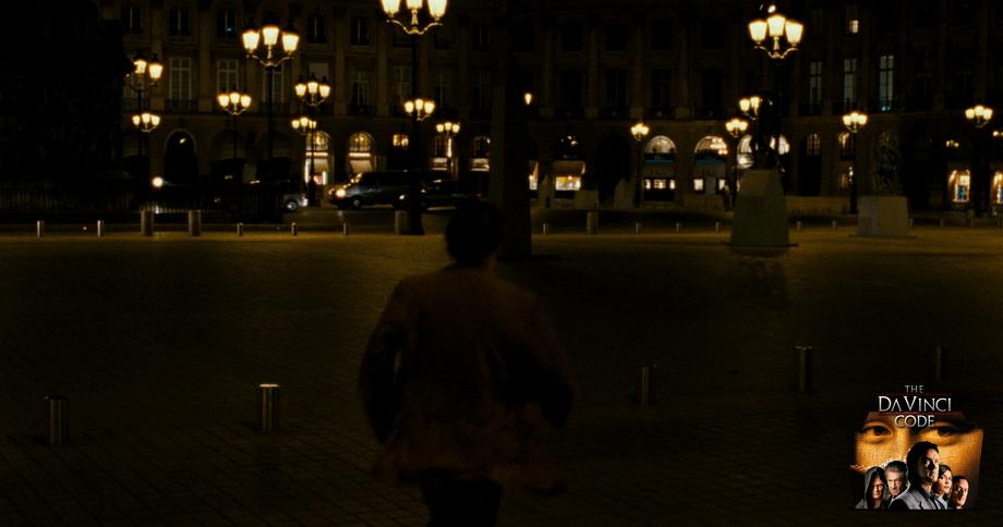 Robert Langdon at 'Place Vendome' square