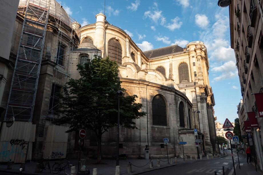 EGLISE SAINT-SULPICE cathedral in Paris, France