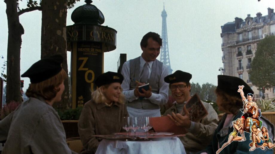 National Lampoon in Paris: scene in restaurant