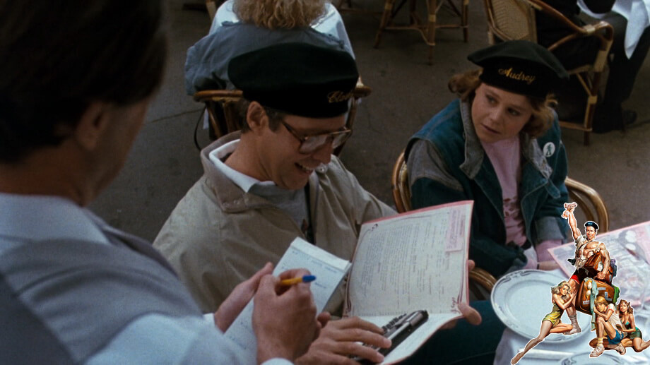 The restaurant scene: Clark Griswald