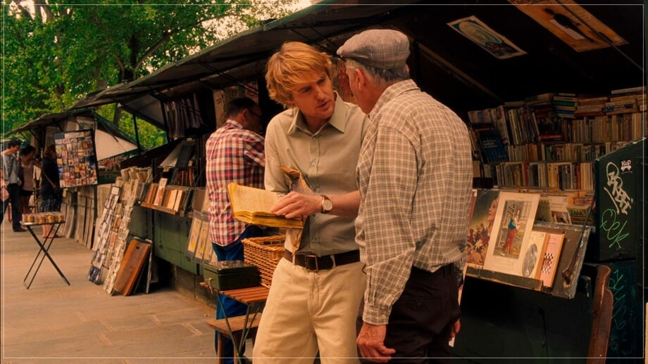 Buying a book: Midnight in Paris locations