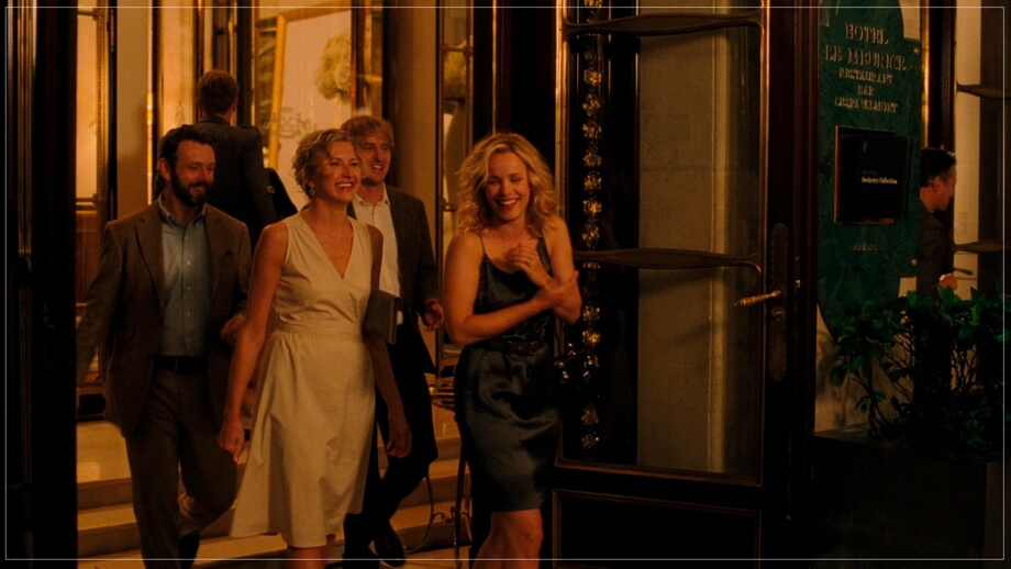 'Hotel Le Meurice' entrance Midnight in Paris location hotel