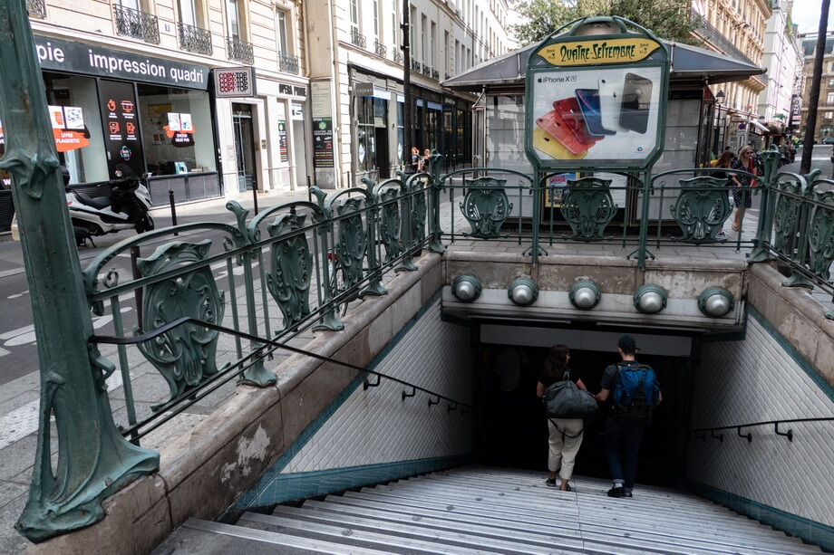 QUATRE-SEPTEMBRE underground, Paris, France