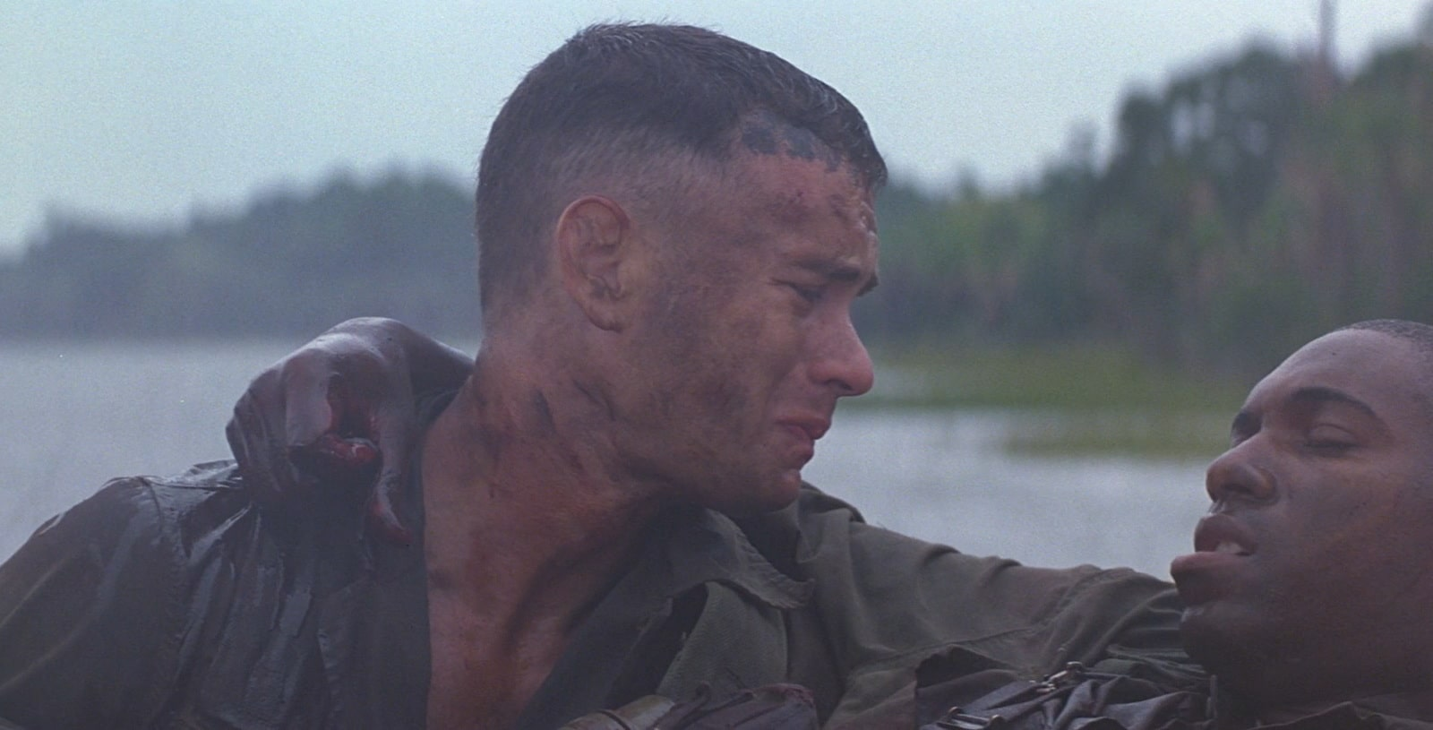 Forrest Gump and Bubba dying