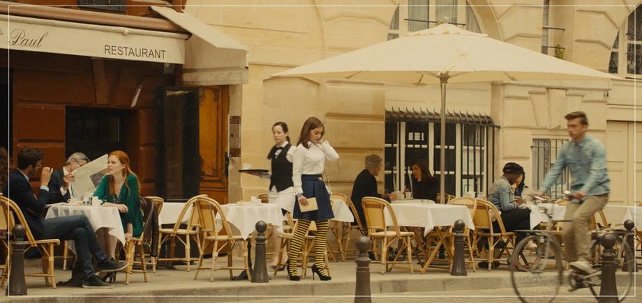 restaurant paul paris me before you Emilia Clarke