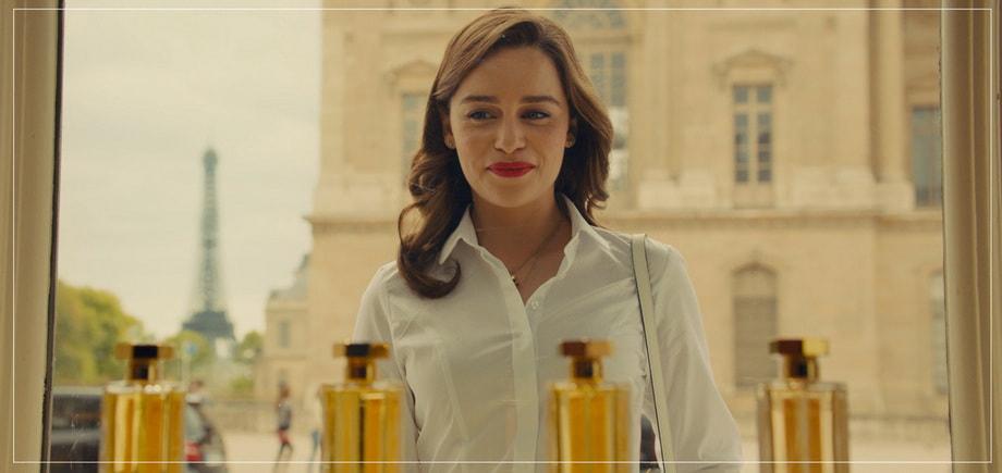 Emilia Clarke as Louisa Clark in Paris PERFUME SHOP