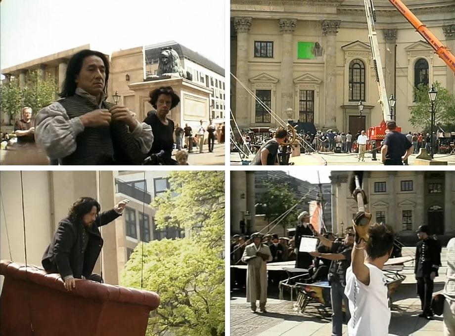 Behidne the scenes of 'Around the World in eighty days' 2004