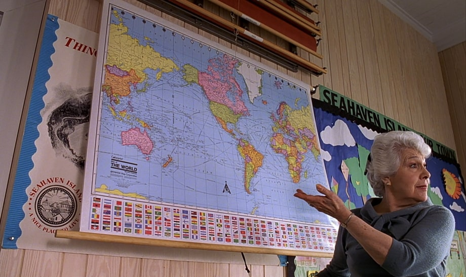The world map in the Truman show